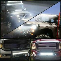 4D Lens Single Row Slim Off-road LED Work Light Bar For ATV SUV 4X4 Car Truck