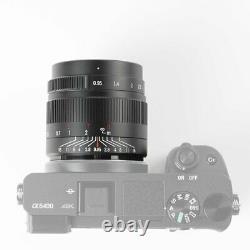 7 Artisans 35mm F0.9 Single Focus Length Manual APS-C Prime Lens For Canon Nikon