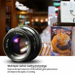 7 Artisans 35mm F1.2 Single Focus Length Manual EOS M Mount Fix Lens For Canon