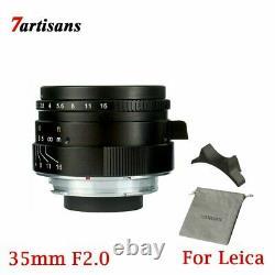 7 Artisans 35mm F2.0 Single Focus Length Manual M Mount Prime Lens For Leica
