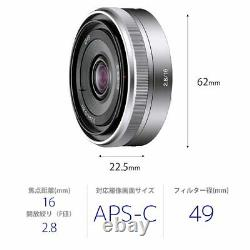 APSC dedicated for Sony single-focus lens E 16mm F2.8 Sony E mount SEL16F28
