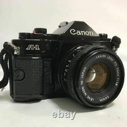 Canon A-1 Black Body Lens Setfd 50Mm F1.8 Single Focus Shutter Exposure Meter