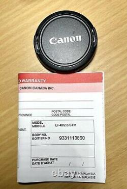 Canon Ef40mm F2.8 STM Single Focus Lens
