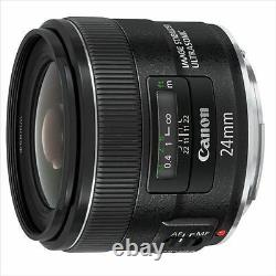 Canon Single Focus Wide Lens EF24mm F2.8 IS USM from Japan New