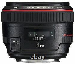 Canon Single-Focus standard Lens EF50mm F1.2L USM Full Size srom Japan New