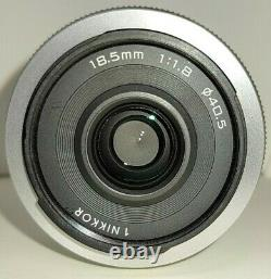 Exc+3 Nikon 1 NIKKOR 18.5mm f /1.8 Single Focus Lens Silver with caps from Japan