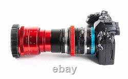 Isco Micro RED Anamorphic Lens V3.5 PREMIUM SINGLE FOCUS setup, for DSLR Cameras