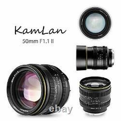 KAMLAN Interchangeable Single Focus Lens 50mm F1.1II for Canon Mount APS-C