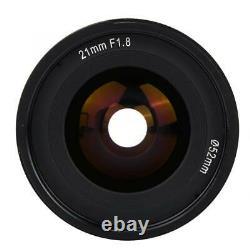 KamLan 21mm F1.8 Manual Single Focus Length Prime Len M Mount For Canon M1 M3