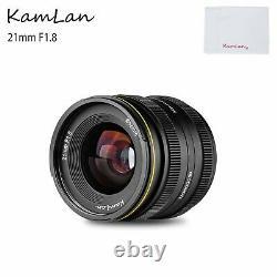 KamLan 21mm F1.8 Wide-Angle Manual Single Focus Prime Lens For Sony E Mount
