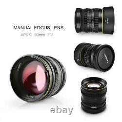 Kamlan 50mm F1.1 Aperture Fix Prime Single Focus Lens 4/3 Mount For Olympus