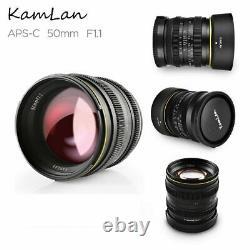 Kamlan 50mm F1.1 Manual Fix Prime Single Focus Lens E Mount For Sony Mirrorless
