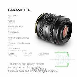 Kamlan 50mm F1.1 Single Fix Focus Manual Prime Lens FX Mount For Fujifilm Camera