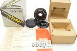 Konica KONICA HEXANON AR 40mm F1.8 Pancake with original box Single focus manual