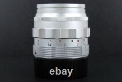 Leica SUMMILUX-M 50MM F1.4 E43 Silver Germany XOOIM comes with caps and hood