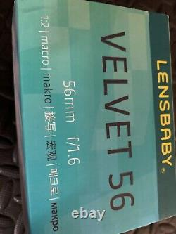 Lensbaby Velvet 56 Lens Black FREE-SHIPPING Excellent Condition IN BOX