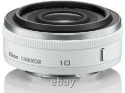 Nikon 1 NIKKOR 10mm F2.8 Lens White Japan Ver. New / FREE-SHIPPING