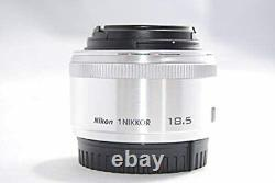 Nikon 1 NIKKOR 18.5mm f/1.8 Silver CX Format Only Single Focus Lens from Japan