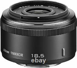 Nikon Single Focus Lens 1 NIKKOR 18.5mm f / 1.8 Black Nikon CX Format Only