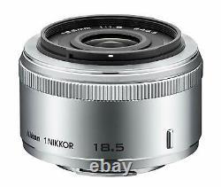 Nikon Single Focus Lens 1 NIKKOR 18.5mm f/1.8 Silver Nikon CX format only