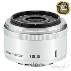 Nikon Single focus lens 3327 1 NIKKOR 18.5mm f/1.8 White Nikon CX format only