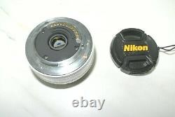Nikon single-focus lens 1 NIKKOR 10mm f / 2.8 white Nikon CX format only