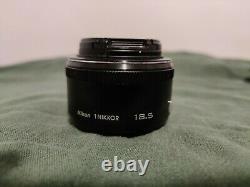 Nikon single-focus lens 1 NIKKOR 18.5mm f / 1.8 Black Nikon CX Format Used