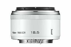 Nikon single-focus lens 1 NIKKOR 18.5mm f / 1.8 White Nikon CX format only