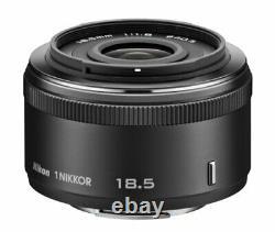 Nikon single-focus lens 1 NIKKOR 18.5mm f / 1.8 black Nikon CX format only