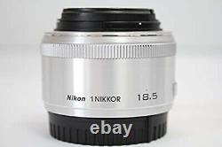 Nikon single focus lens 1 NIKKOR 18.5mm f / 1.8 silver Nikon CX format only USED