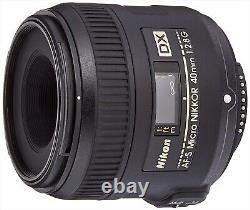 Nikon single focus microlens AF-S DX Micro 40mm F/2.8G DX format only from Japan