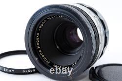 Nippon Kogaku Japan Micro-NIKKOR 5.5cm F3.5 F Mount Single Focus Camera Lens