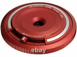 OLYMPUS Body Cap Lens BCL-1580 Red Japan Ver. New / FREE-SHIPPING