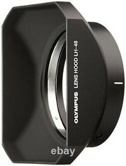 OLYMPUS single focus lens M. For ZUIKO DIGITAL ED 12mm F2.0 lens hood LH-48 BLK