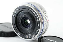 Olympus M. Zuiko DIGITAL 17mm F/2.8 Single focus pancake Lens with cap Near mint