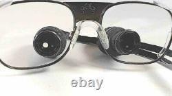 Orascoptic Dental loupes 2.5x withcase, Titanium frame, individual lens focus