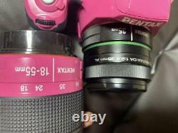 PENTAX K-50 Pink 18-55mm Double Zoom Lens+SMC PENTAX-DA 35mm Single Focus Lens