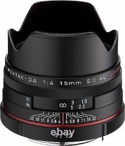 PENTAX Super-Wide-Angle Single Focus Lens HD DA 15mm F4 ED AL Limited Black New