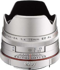PENTAX Super-Wide-Angle Single Focus Lens HD DA 15mm F4 ED AL Limited Silver EMS