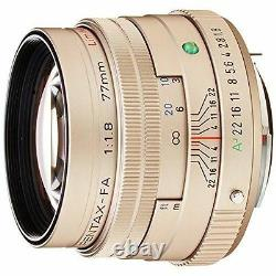 PENTAX Telephoto Single Focus Lens FA 77mm F1.8 Limited Silver K mount full-size
