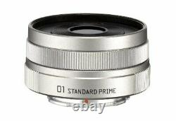 PENTAX single-focus lens 01 STANDARD PRIME Q mount 22067 Silver NEW from Japan