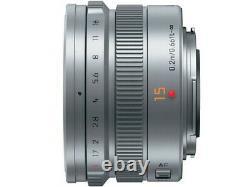 Panasonic LEICA DG SUMMILUX 15mm F1.7 ASPH. Lens H-X015-S Silver Japan Ver. New