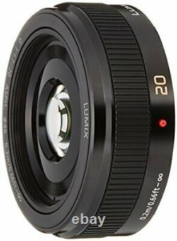 Panasonic single focus lens Micro Four Thirds Lumix G 20mm / F1.7 II ASPH. Black