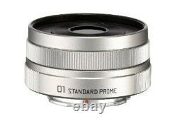 Pentax single focus lens 01 STANDARD PRIME Q mount 22067 silver