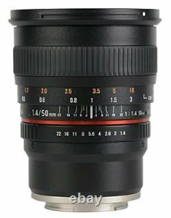 SAMYANG Single-Focus Standard Lens 50mm F1.4 Full Size for Fujifilm X New