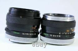 Single Focus Lens Set Canon Canon FD 50mm F1.4 S. S. C. FD 28mm F3.5 Thin Spider 3