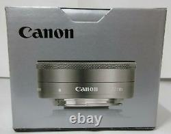 Single focus wide-angle lens EF-M22mm F2 STM silver Canon From Japan