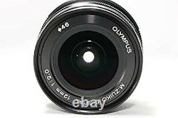 USED OLYMPUS Single Focus Lens M. ZUIKO DIGITAL ED 12mm F2.0 Black From Japan