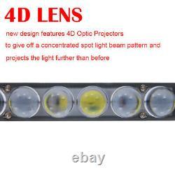 Ultra Slim 48 inch 4D Lens LED Light Bar Fog Driving OFFROAD 50 For TRUCK SUV