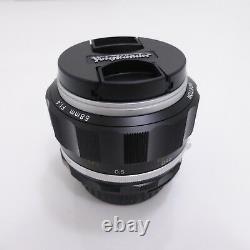 Voigtlander 2016 NOKTON 58mm F1.4 SL II Ai-S Silver Rim for Nikon F Mount NIB